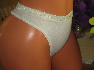 718 Victoria's Secret S/5 Wide Signature Waist Hi Cut Thong Panties VINTAGE