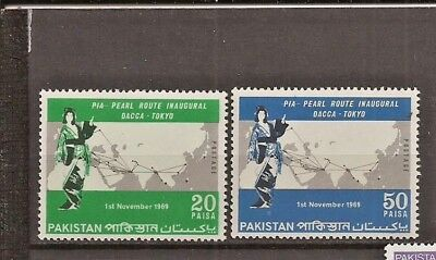 PAKISTAN SG 284a/285a, PIA COLOUR OMITTED MNH.