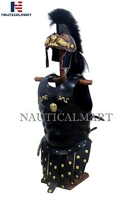 Royal Greek Muscle Armor Cuirass Greco Roman Helmet Costume