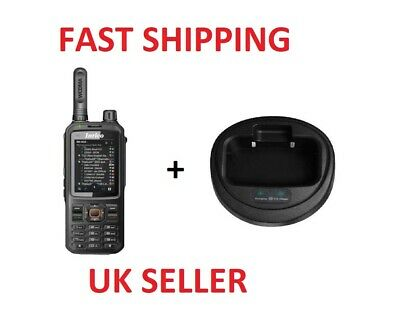 Inrico T320 4G/Wifi Network Handheld Radio (POC) + DROP IN POD CHARGER