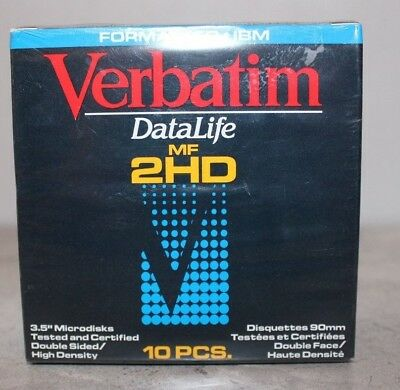 Verbatim Datalife 2HD 3.5 Microdiskc 10 Pieces Brand New