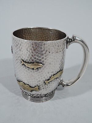 Gorham Mug - 3210 - Antique Japonesque - American Sterling Silver & Mixed Metal