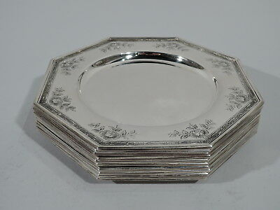 Gorham Plates - 1361L - Set of 10 Antique Edwardian - American Sterling Silver