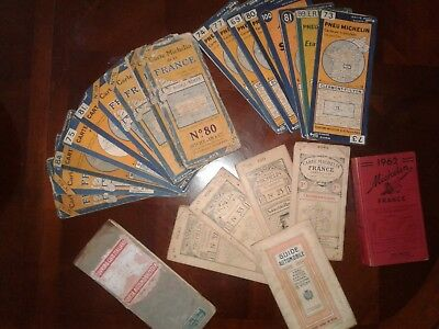 1915-62 in French MICHELIN Books, Automobile Maps, Michelin Tour Guides Very Old