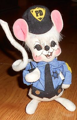 """Annalee Policeman Police Officer Mouse 7"""" 2003"""