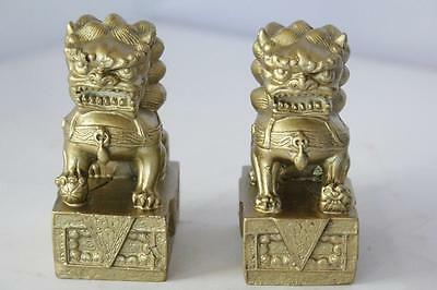 Feng Shui Chinese Oriental Bronze Fu Foo Dog Home Protection Lions Guardians Set