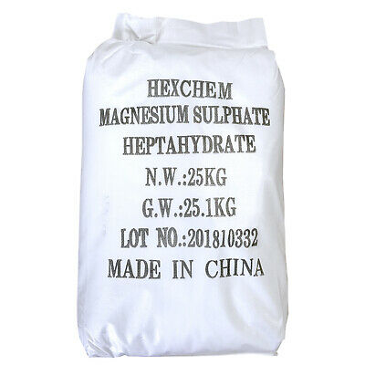 EPSOM SALT | 25KG BAG | BP Grade | Food Grade | Magnesium Sulphate