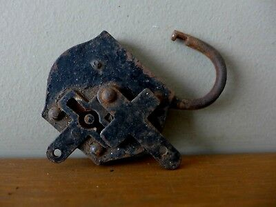 Vintage padlock with cross cover No Key Collector