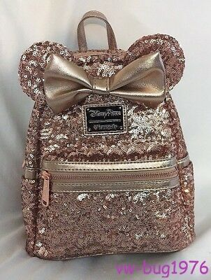 Disney Parks Minnie Mouse Rose Gold Loungefly Backpack NEW W/Tag *SOLD OUT* Rare