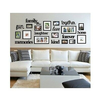 MULTIPLE PICTURE FRAME Big Set Wall Collage Photo 4x6 5x7 4x4 Love ...