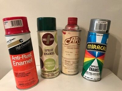 Vintage Spray Paint Cans Coast To Coast Red, Triple Check Green, Cars ,Miracle