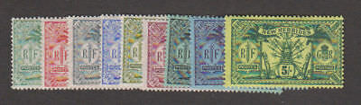 New Hebrides - 1911 Native Idols Definitive Set. Sc. #17-25, SG #18-28. Mint