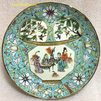 Beautiful 19th Century Antique Chinese Export Famille Rose Porcelain Plate