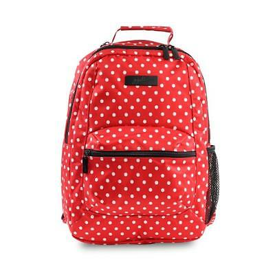 NWT Jujube Onyx Black Ruby Be Packed Back Pack Diaper Bag Red White Dots