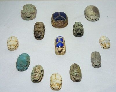 COLLECTION of ANCIENT EGYPTIAN ANTIQUE SCARAB Carved Stone 1583-1354 BC