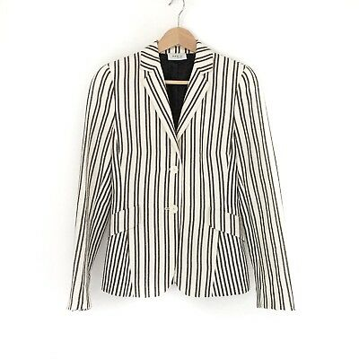 Akris Punto Striped Blazer Jacket Size 4