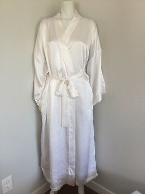 100% silk long kimono style robe L - new in package