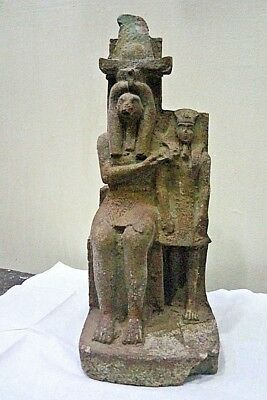 ANCIENT EGYPTIAN ANTIQUE AMENHOTEP III with The Idol Sobek 1386-1349 BC