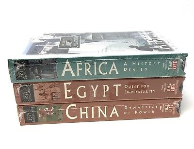 Time Life's Lost Civilizations On Vhs: Africa - Egypt & China - Brand New/sealed