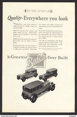 1927 Buick​ -  Original Magazine Advertisement​
