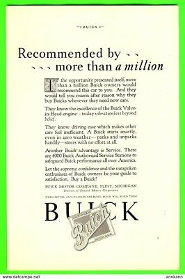 1927 Buick Original Magazine Advertisement