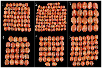 100% Natural Sunstone Untreated Deluxe Quality Glossy Cabochons ~ Many Sizes