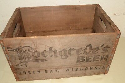 Antique HOCHGREVE'S BEER wood crate box Green Bay WI pre-prohibition brewery