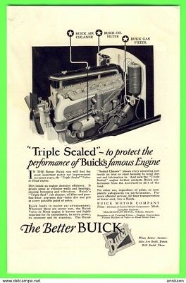 1926 BUICK engine / Santa Fe - The Indian ORIGINAL MAGAZINE ADVERTISEMENT