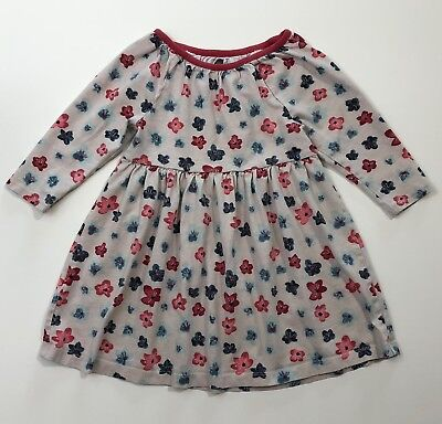 TEA Collection Pink Floral Long Sleeve Knit Dress Size 4 4T