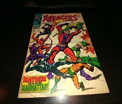 Avengers 55 First Full Ultron! Key Silver Age Marvel Comic Book by Stan Lee
