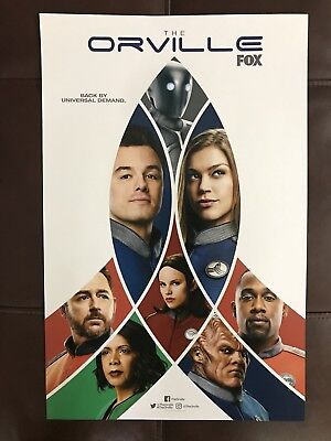 SDCC 2018 THE ORVILLE 11x17 POSTER EXCLUSIVE BACK BY UNIVERSAL DEMAND FOX HTF