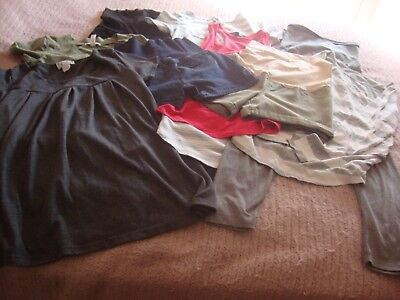 Lot of 9 Maternity Clothes – Mostly Spring & Summer Size S – M.