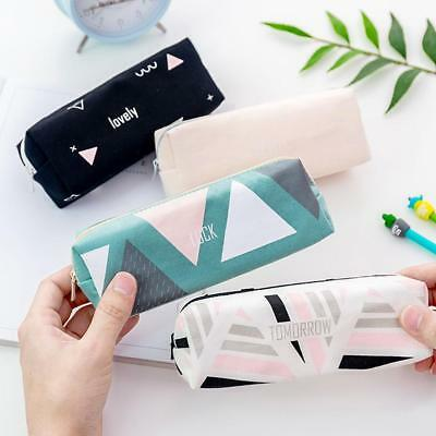 Cute Zipper Pencil Case Stationery Cosmetic Make Up Bag Pen Storage_Pouch