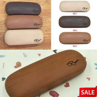 Wood Pattern Reading Sunglasses Eye Glasses Hard Case Eyewear Box Protector Bag