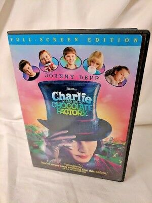 Charlie and the Chocolate Factory (DVD, 2005, Full screen)