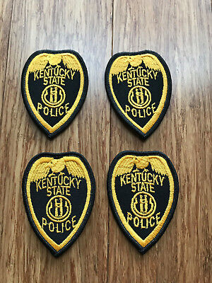 Lot of 4 Vintage KENTUCKY State Police Highway Patrol Trooper Patch Patches NEW