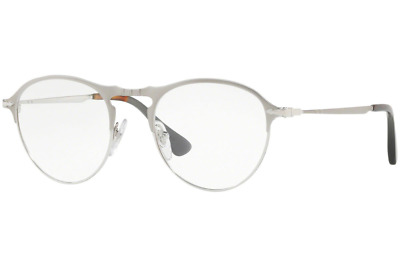 6f1dfb4d08 Authentic PERSOL 7092V - 1068 Eyeglasses Matte Silver   Silver  NEW  50mm