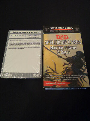 D&D Spellbook Cards Martial Powers & Races englisch OVP