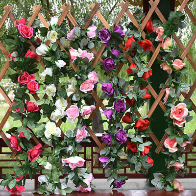 8ft artificial rose flower garland silk flowers vine ivy arch 8ft artificial rose flower garland silk flowers vine ivy arch wedding garden new mightylinksfo