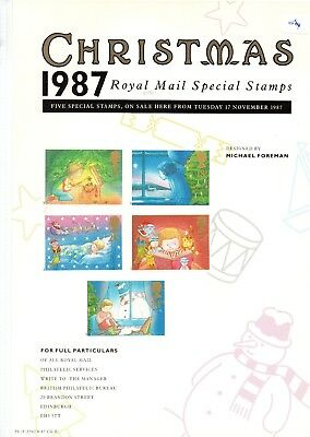 Gb - Royal Mail Posters - A4 - 1987 (06) - Christmas - Minor Faults