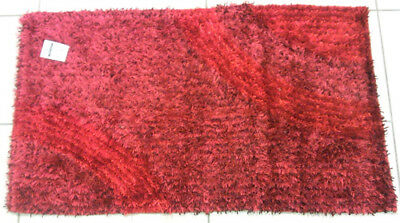 Sirge 2 Tappeti Shaggy Rosso 60 x 105 cm