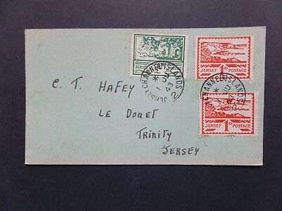 Jersey 1943 Blampied 1/2d + 2 x 1d Views FDC