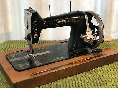 Vintage Heavy Duty - 'Gamages' Hand Cranked Sewing Machine
