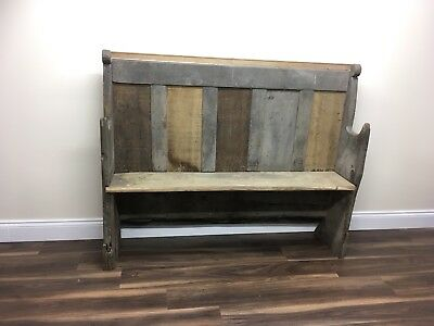 Antique Oak Church Pew Settle - For Restoration - DELIVERY AVAILABLE
