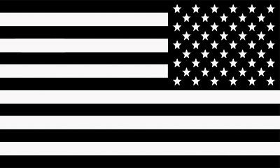 Reverse United States of America USA Flag Motorcycle Car Laptop Decal Sticker BW