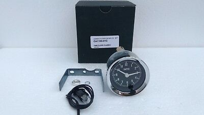 Smiths Classic Time Clock Chrome Bezel With Black Face Gae128X Ca1100-0-1C