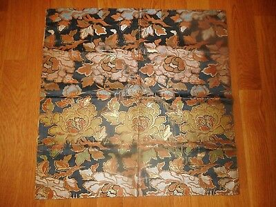 Antique Vintage Fine Floral Japanese Silk Fukusa Tea Fabric Cloth Gift Cover