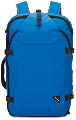 Pacsafe Anti-Theft Backpack 22 in. Laptop Compartment Velcro Pocket (Blue)