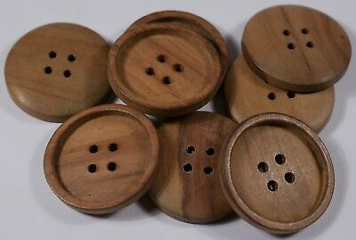 real wooden wood round buttons | 4 four hole | 27mm