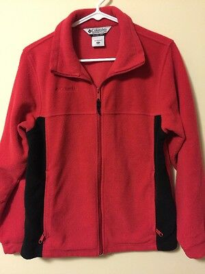 Columbia Jacket Red And Black. Youth 14/16 Unlined Fleece.